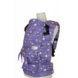 Lenka ergonomické nosítko - 4ever - Hvězdy - fialové