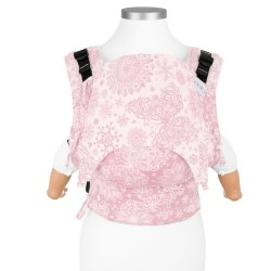 Fidella Fusion babycarrier with buckles - Iced Butterfly - pale pink