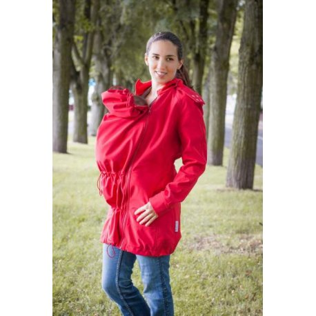 Loktu She babywearing coat - red