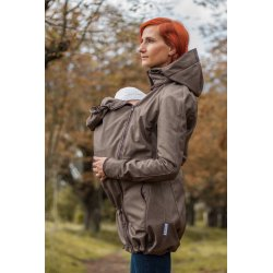 Loktu She babywearing coat - brown melange