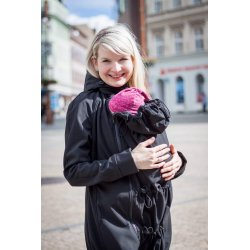 Loktu She babywearing coat - black