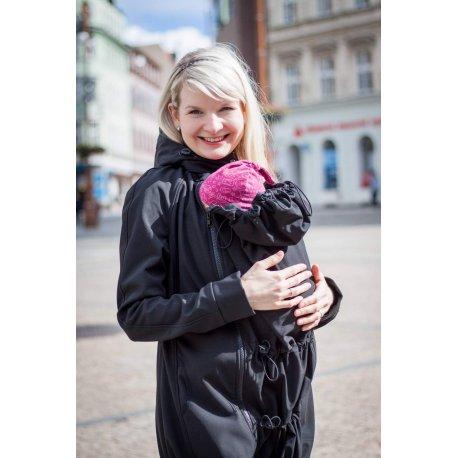 Loktu She babywearing coat - black