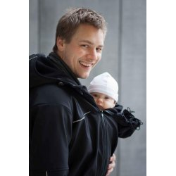 Loktu She babywearing coat for men - black