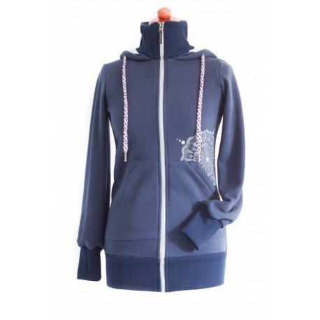 Angel Wings Babywearing Hoodie Navy