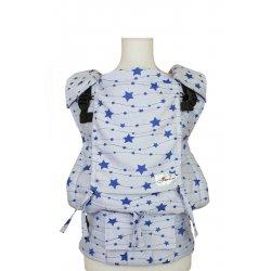 Lenka ergonomické nosítko - 4ever - Hvězdy - bílo - modré