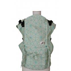 Lenka ergonomické nosítko - 4ever - Pavučinka - bílo - tyrkysová