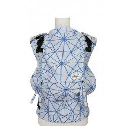 Lenka ergonomické nosítko - 4ever - Pavučinka - bílo-modrá