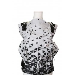 Lenka ergonomical babycarrier - 4ever - Triangel Black and White