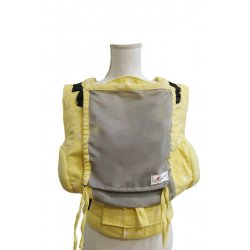 Lenka ergonomical babycarrier - 4ever - Stars yellow - light grey mesh