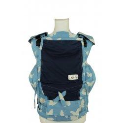 Lenka ergonomické nosítko - 4ever - Motýli - modrá - Letná verzia