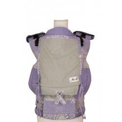 Lenka ergonomické nosítko - 4ever - Krajka fialová - Letná verzia
