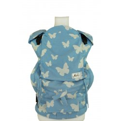 Lenka ergonomical babycarrier - 4ever - Butterflies - blue