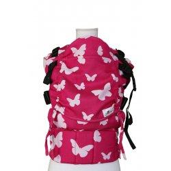 Lenka ergonomické nosítko - Rostoucí - Motýli - pink