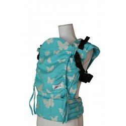 Lenka ergonomické nosítko - Rostoucí - Motýli - azur