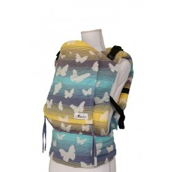 Lenka ergonomical babycarrier - Coloured butterflies