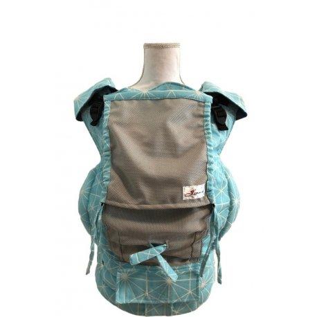 Lenka ergonomical babycarrier - 4ever - Gossamer acqua - light grey mesh