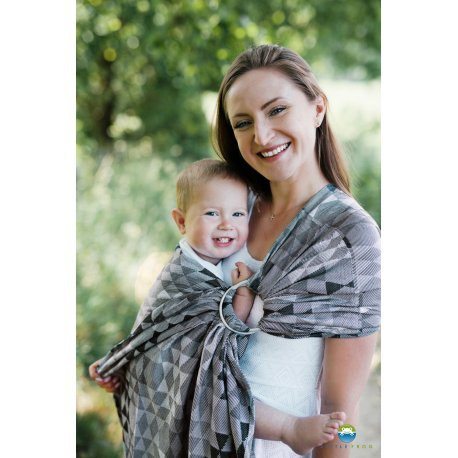 Little Frog Ring Sling Grey Illusion