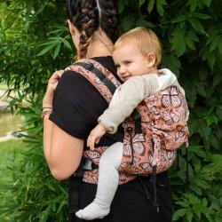 BabyMonkey ergonomické nosítko Regolo Butterfly Arancio Reverse
