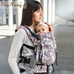 BabyMonkey ergonomické nosítko Regolo Unicorns Himalaya Glitter Reverse