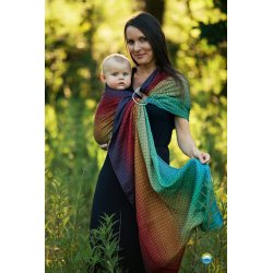 Little Frog Ring Sling Lovely Black Rainbow