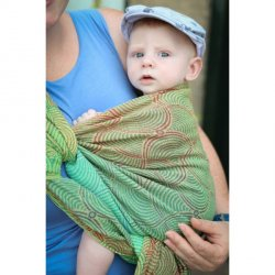 Yaro Ring Sling Gravity Duo Coral Reef Grad Green Organic
