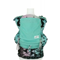 Lenka ergonomical babycarrier - 4ever - Triangel Turquoise - light grey mesh