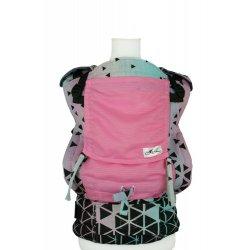 Lenka ergonomické nosítko - 4ever - Triangel Pink - Letní verze