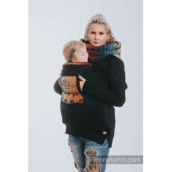 LennyLamb Babywearing Sweatshirt 3.0 - black with Symphony Rainbow Dark