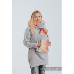 LennyLamb Babywearing Sweatshirt 3.0 - gray melange with Symphony Rainbow Light
