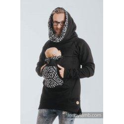 LennyLamb Babywearing Sweatshirt 3.0 - black with Hematite