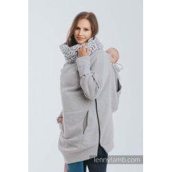 LennyLamb Babywearing Sweatshirt 3.0 - gray melange with Pearl