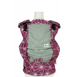 Lenka ergonomical babycarrier - 4ever - Gossamer berry - light grey mesh