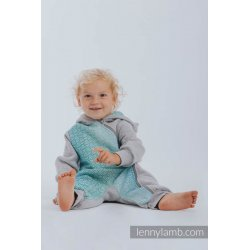 LennyLamb Bear Romper gray melange with Big Love Ice Mint