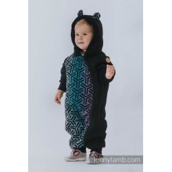 LennyLamb Bear Romper black with Triity Cosmos