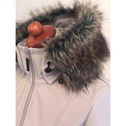 Angel Wings Softshellový kabát s kožíškem svělešedý