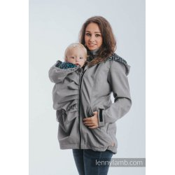 LennyLamb Nosící kabát softshell - šedá s Trinity Cosmos