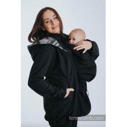 LennyLamb Nosící kabát softshell - černá s Glamorous Lace Reverse