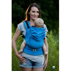 Little Frog ergonomic carrier - Turquoise Herringbone