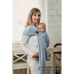 LennyLamb ring sling Basic Line - Little Love - Sky Blue