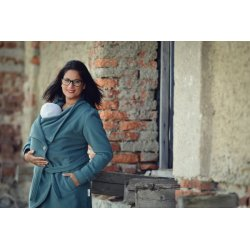 Angel Wings Woolen coat grey-green