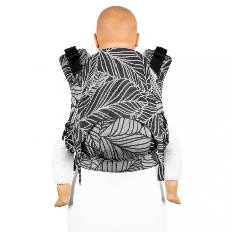 Fidella Fusion babycarrier with buckles - Dancing Leaves - Black & White