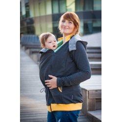 Loktu She babywearing hoodie - grey