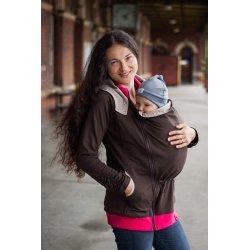 Loktu She babywearing hoodie - brown
