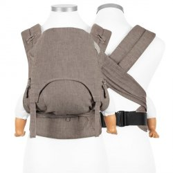 Fidella FlyClick Halbfbuckle babycarrier Chevron - Walnut