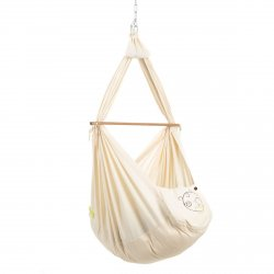 NONOMO® SWINGING HAMMOCK-SET BABY CLASSIC WITH POLYESTER MATTRESS AND CEILING FIXTURE
