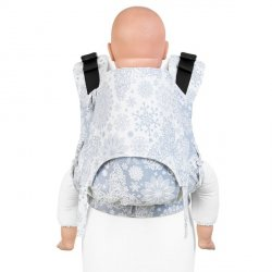 Fidella Fusion babycarrier with buckles - Iced Butterfly - light blue