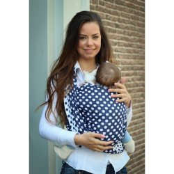 Yaro Ring Sling Polka Dot Contra Navy White