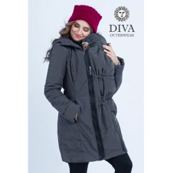 Diva Milano babywearing winter coat 4 in 1 Grafite