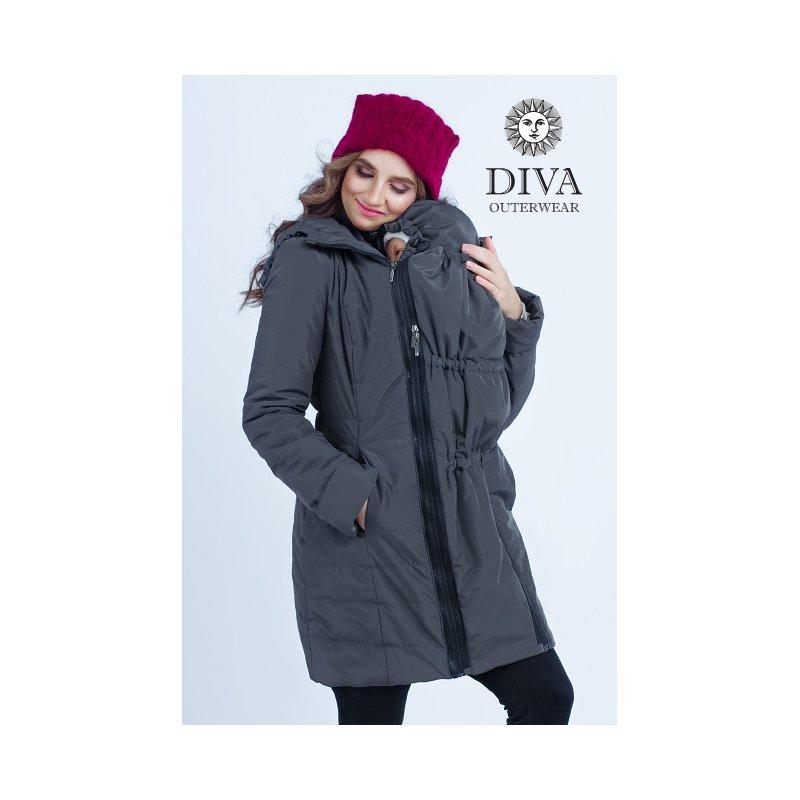 ffebd623053e Diva Milano babywearing winter coat 4 in 1 Grafite - ŠátkoMánie.cz