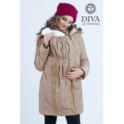 Diva Milano babywearing winter coat 4 in 1 Moka